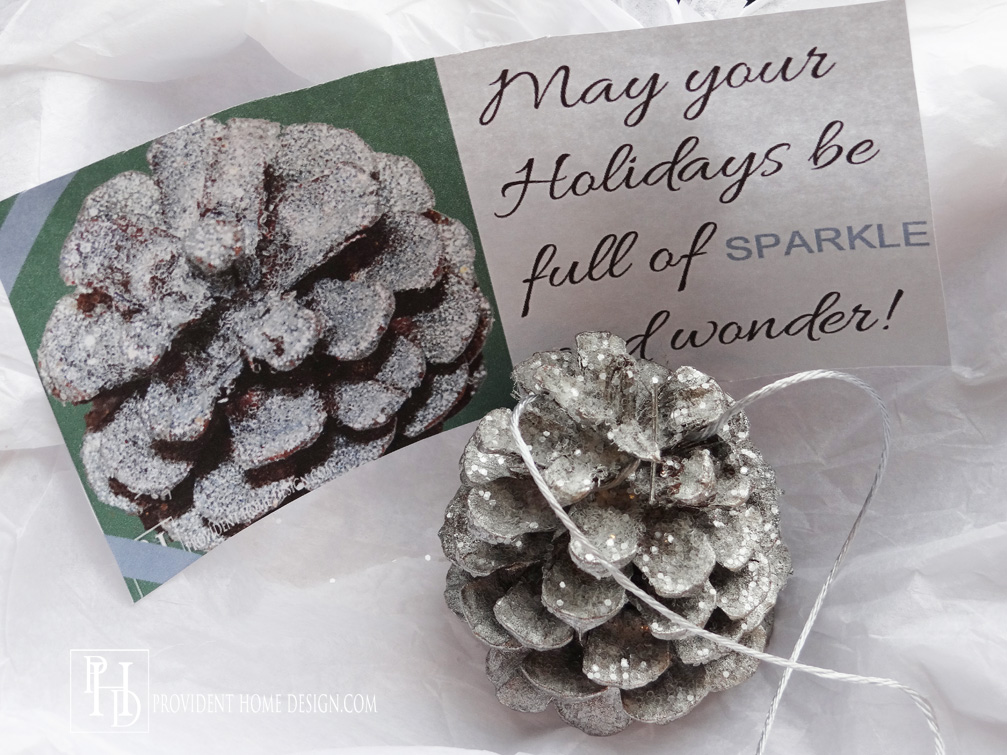 Pinecone Ornament Gift Tag