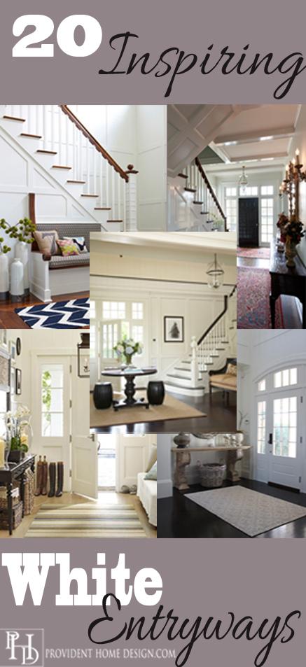 20 Inspiring White Entryways!