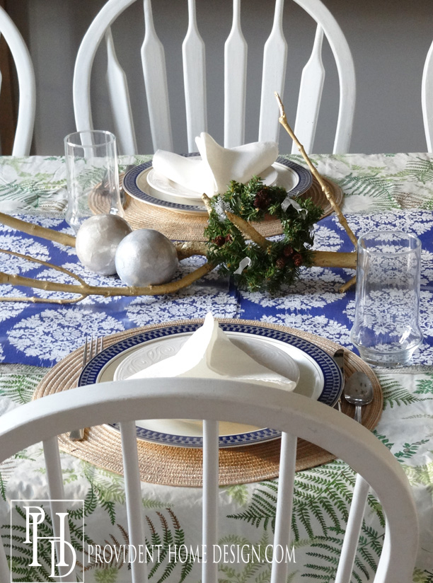 Coastal Christmas Tablescape