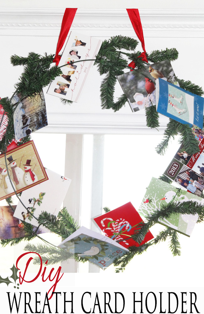 Holiday Wreath Card Display