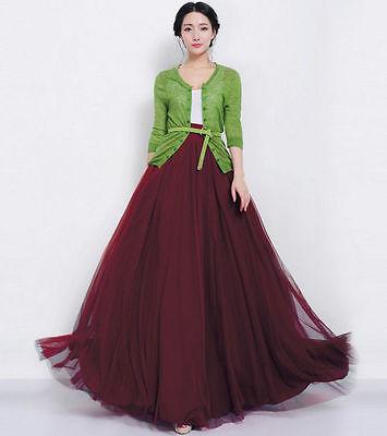 Marsala chiffon skirt