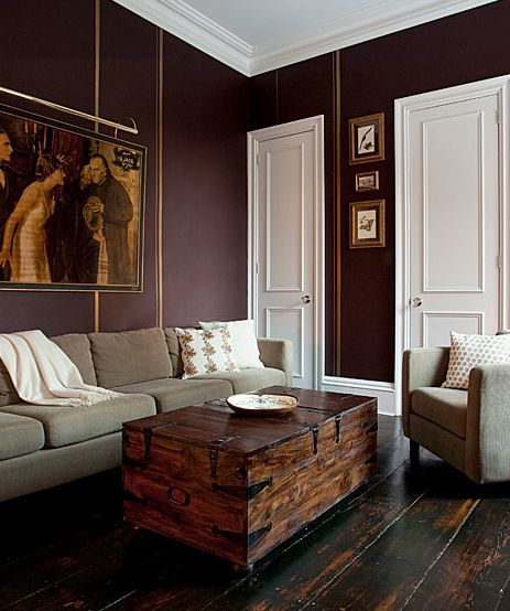 marsala painted room