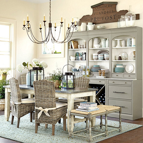 Ballard Designs Painted Hutch