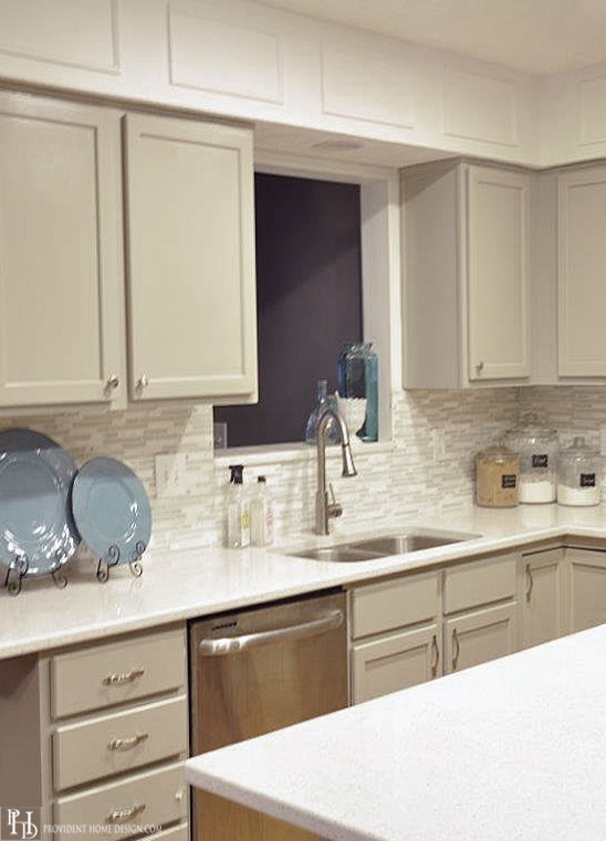 Gray Cabinets in Kitchen