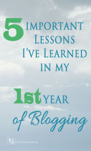 Lessons Learned from 1st Year of Blogging