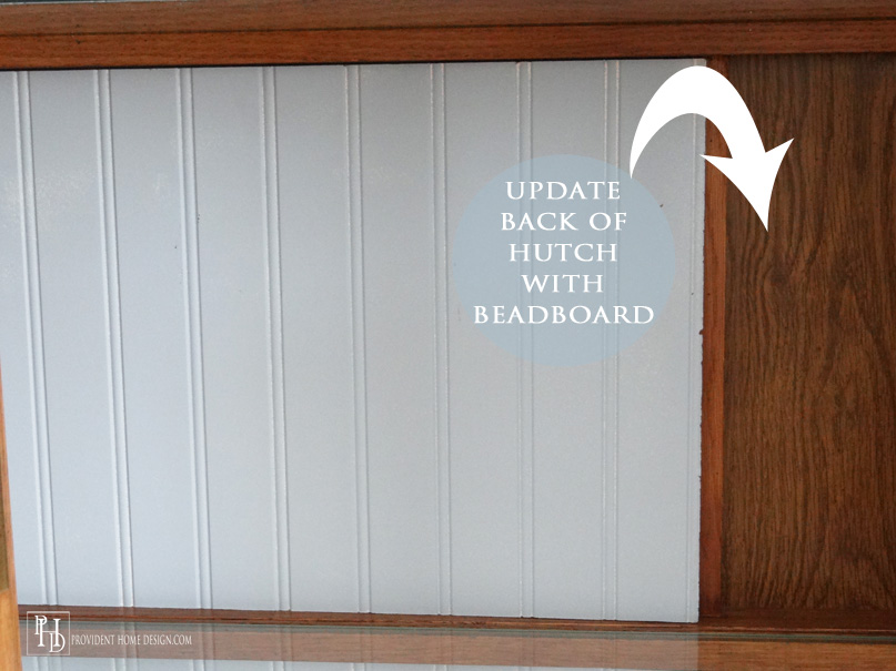 Update a Hutch by Backing it with Beadboard