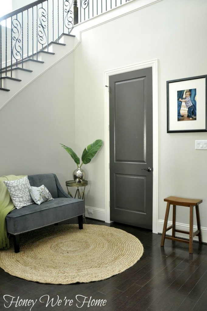gray interior door