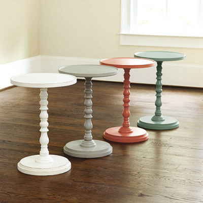 DIY Pedestal Side Table