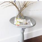 DIY Pedestal Side Table