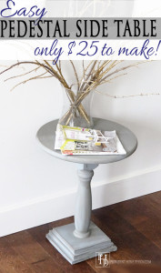 DIY Pedestal-styled Side Table