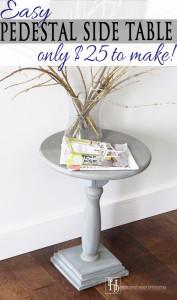 DIY Pedestal-styled Side Table