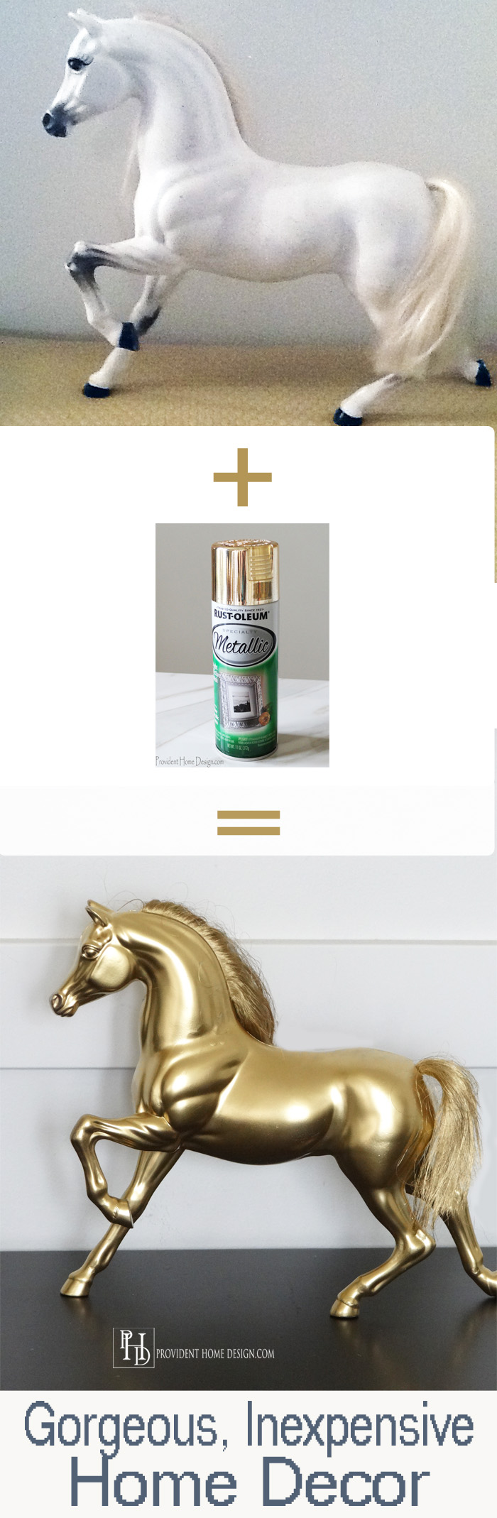 DIY Spray Painted Horse