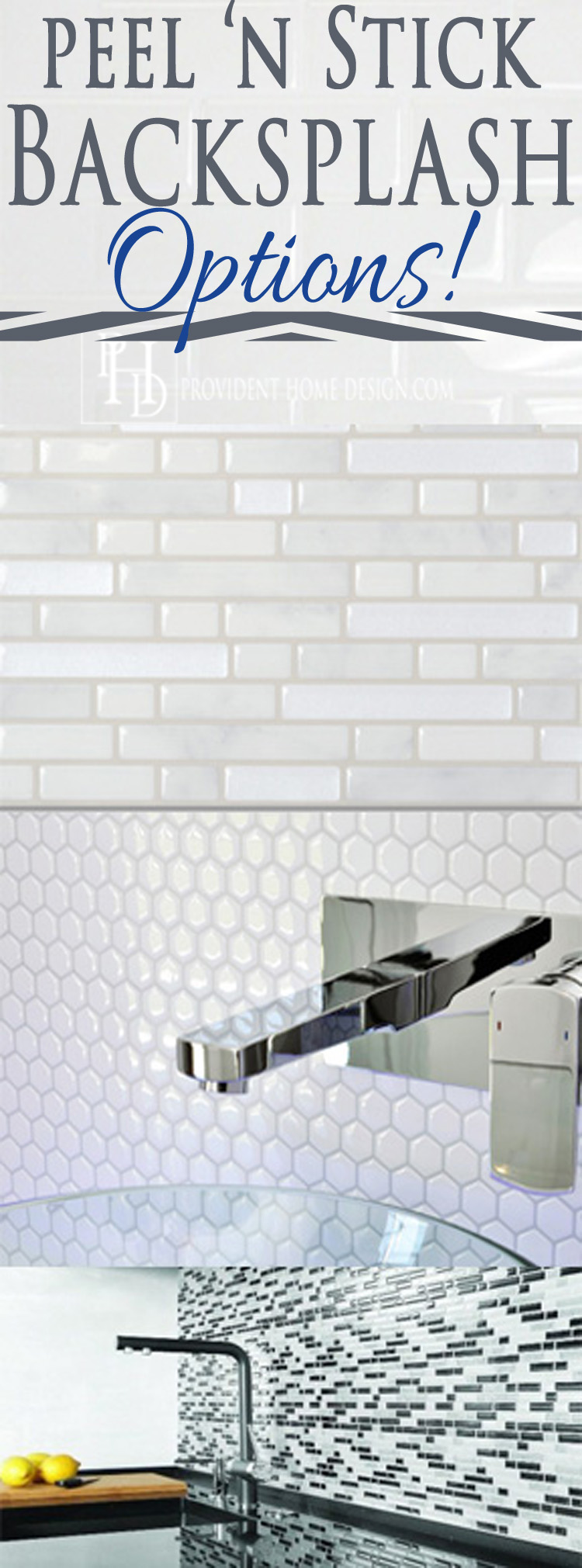 peel n stick backsplash options