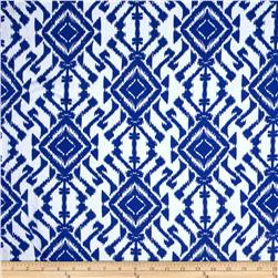 blue and white geometric fabric