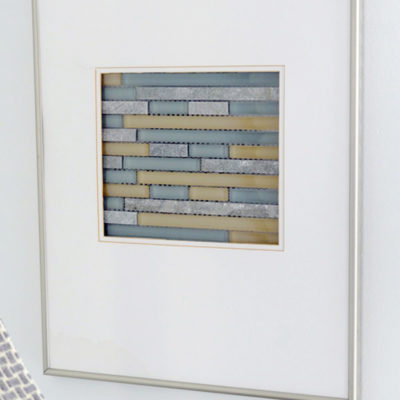 Easy DIY Glass Mosaic Wall Art