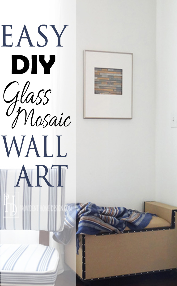 diy glass mosaic wall art