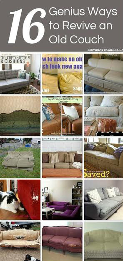 !6 Ways to Update an Old Couch