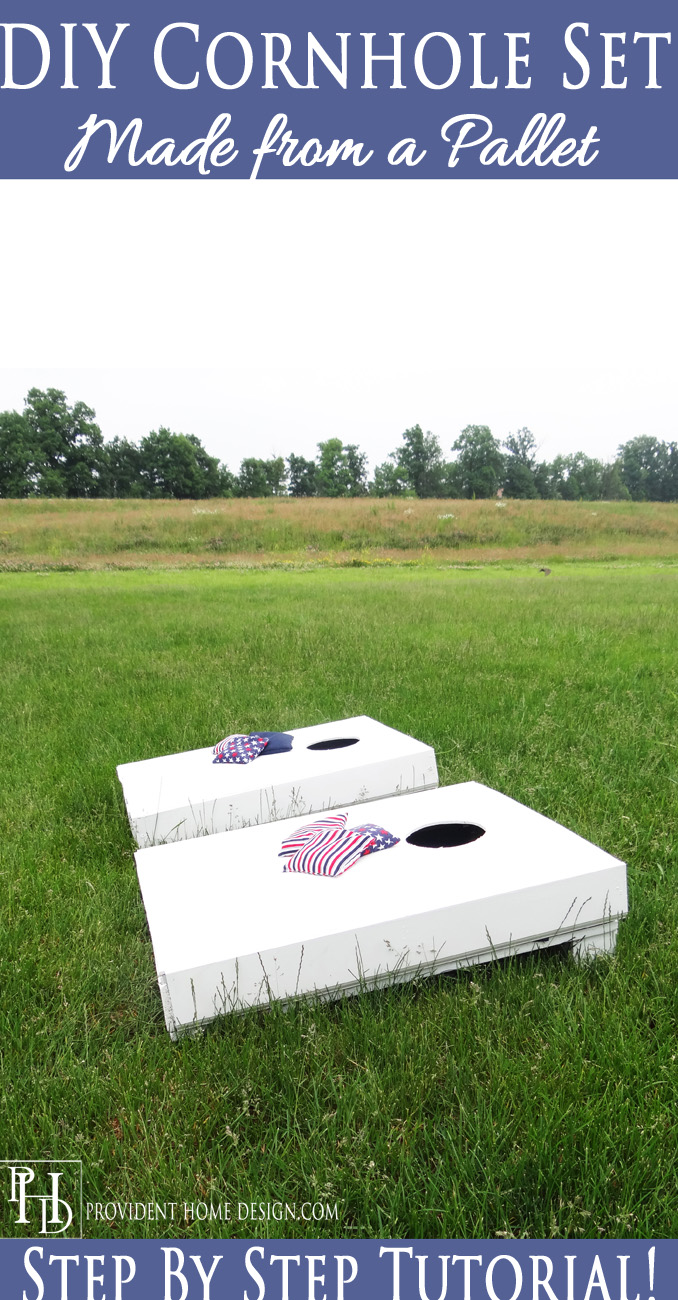 Cornhole Set Made from Pallet