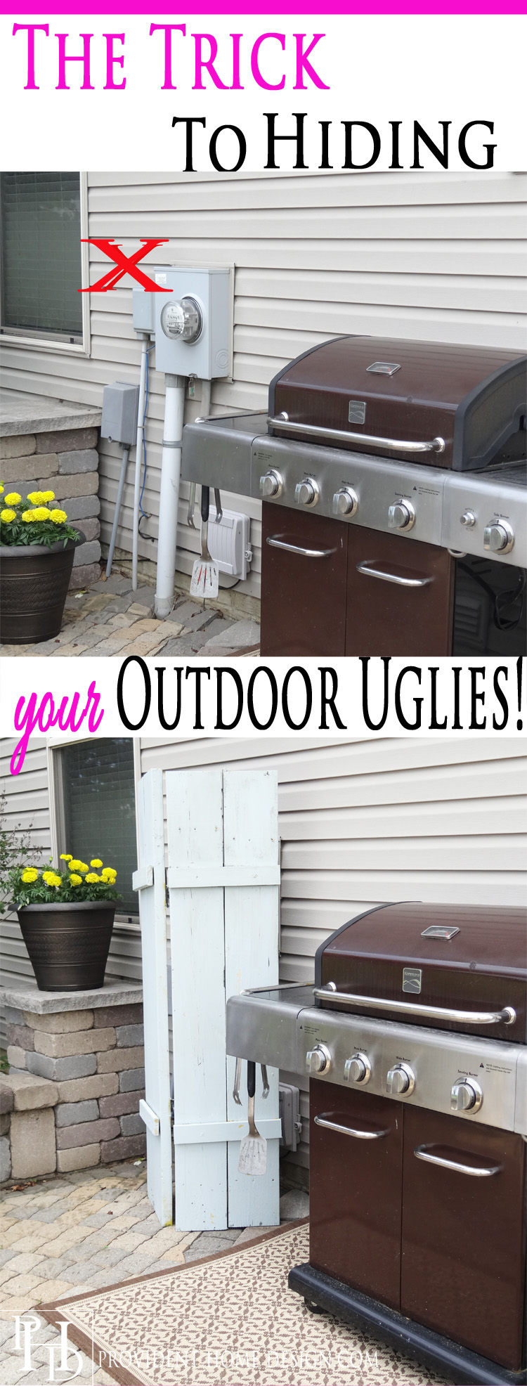 The Trick to Hiding Outdoor Uglies!