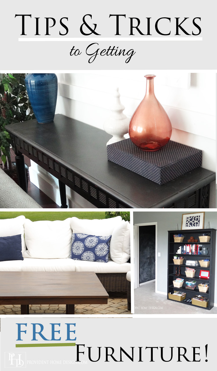 Tips & Tricks to Getting Free Furniture