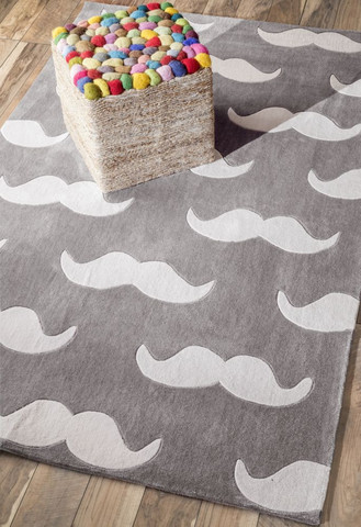 Hand Tufted Mustache