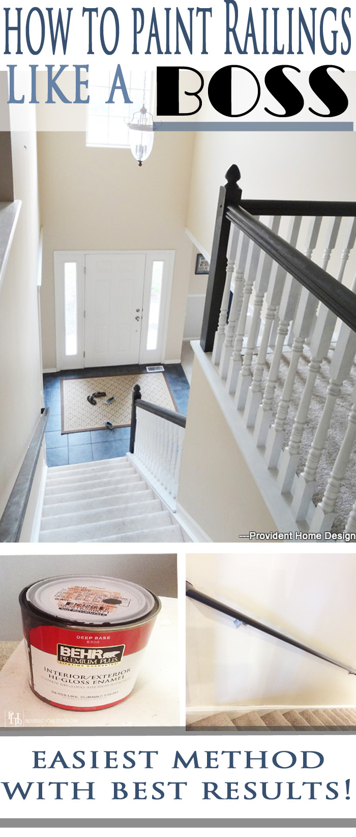 How to Paint Stair Railing like a Boss!