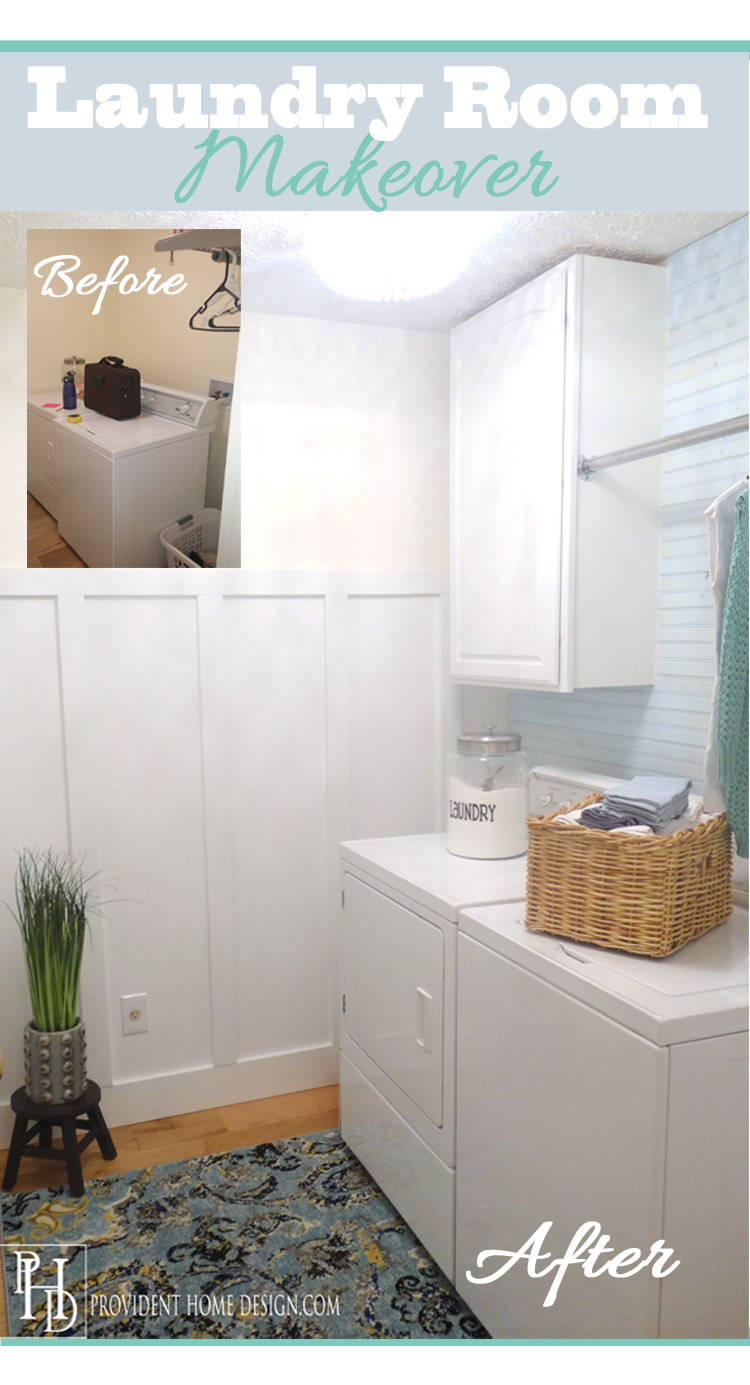Laundry Room Makeover on a Budget!