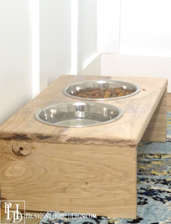 Wood Dog Food Tray
