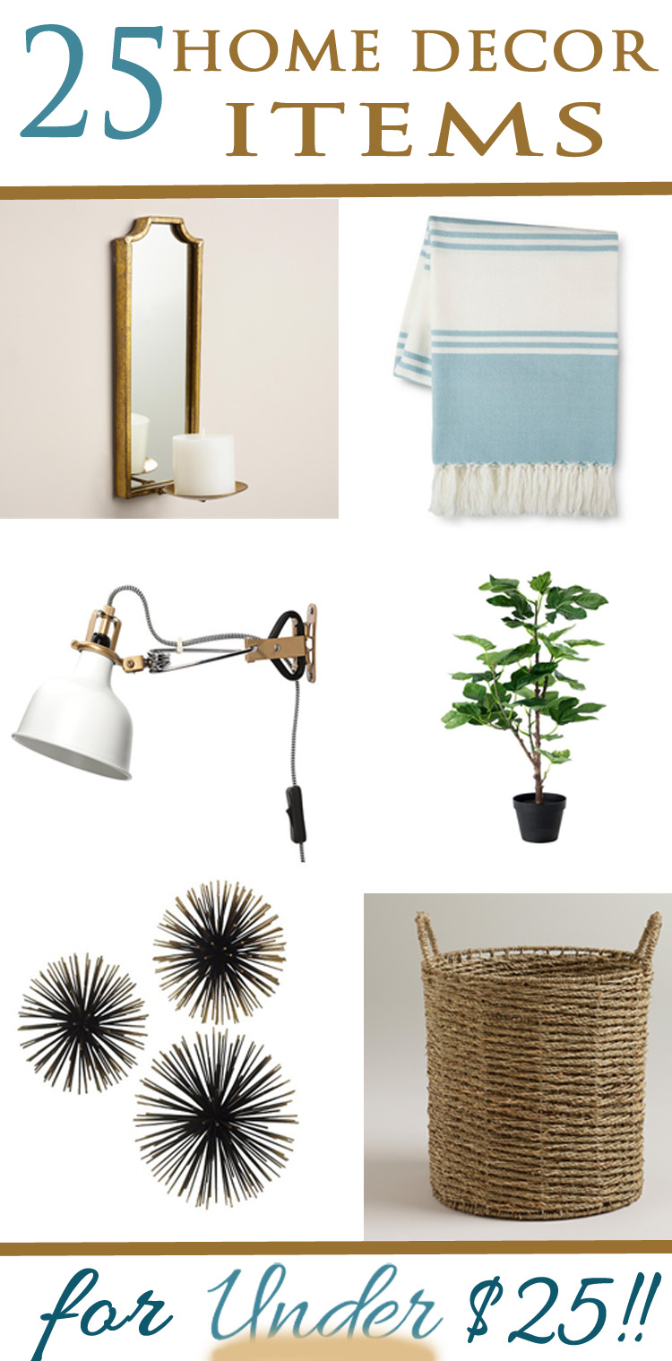 25 Home Decor Items Under $25