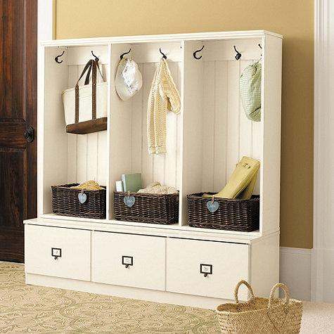 Ballard Designs Beadboard Entryway Cabinets