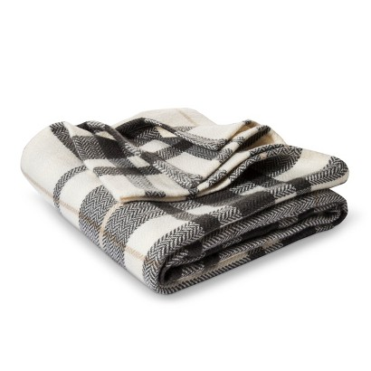Plaid Target Throw