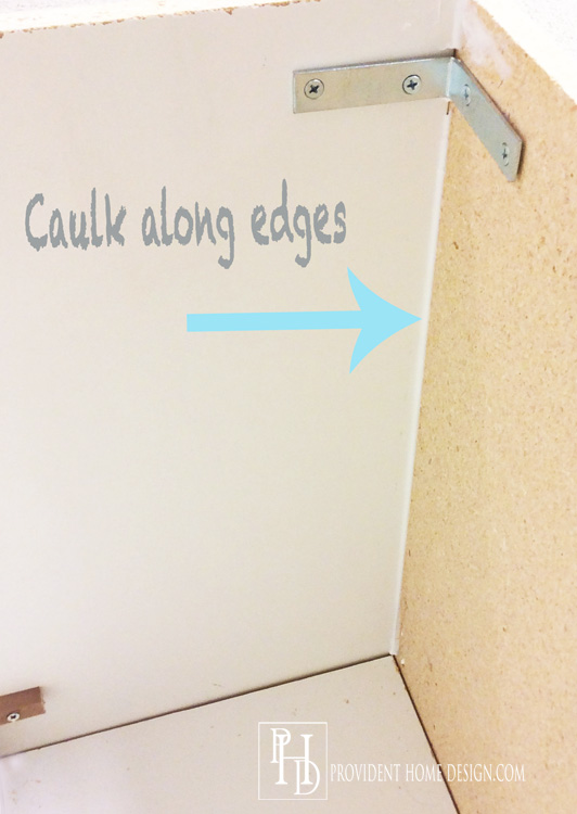 caulk edges