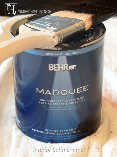 Black Paint for Dresser Makeover