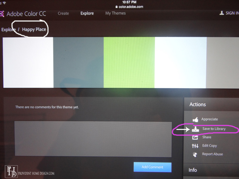 Choosing Color Palettes with Adobe Color CC App