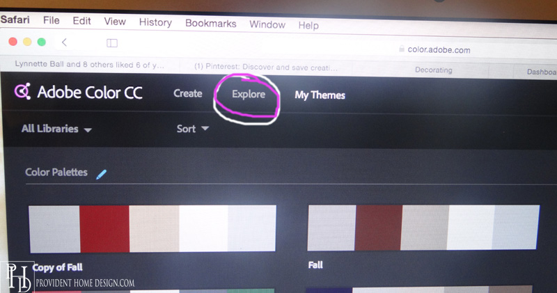 Eploring Color Palettes on Adobe Color CC app