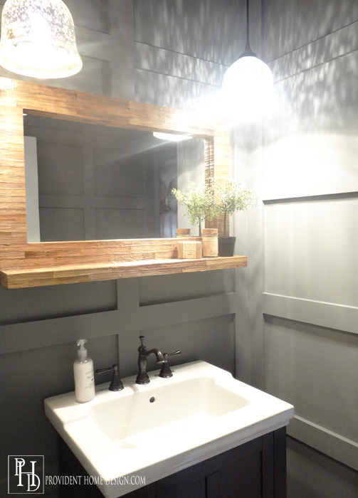 Industrial Rustic Powder Bathroom