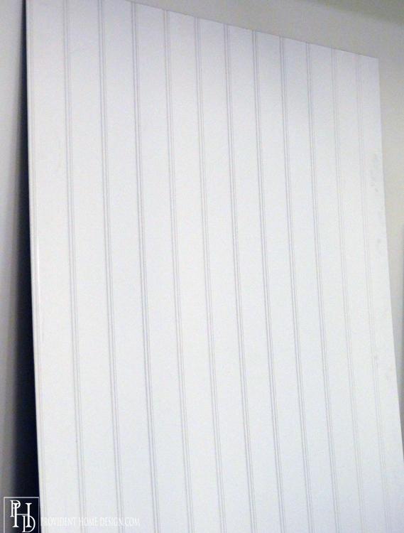 Beadboard Basement Ceiling