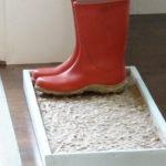 DIY Cobblestone Boot/Shoe Tray