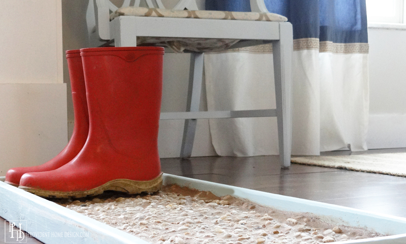 DIY Grouted Boot Tray