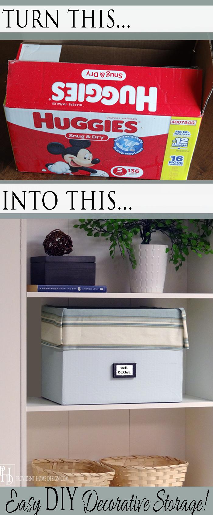 Easy DIY Decorative Storage