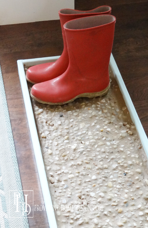 How to make a grouted boot tray