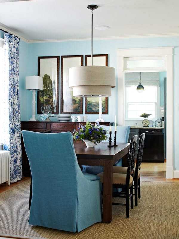 Lauren Liess Blue Dining Room