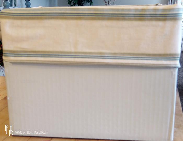 Turn Diaper Box into Decorative Tote