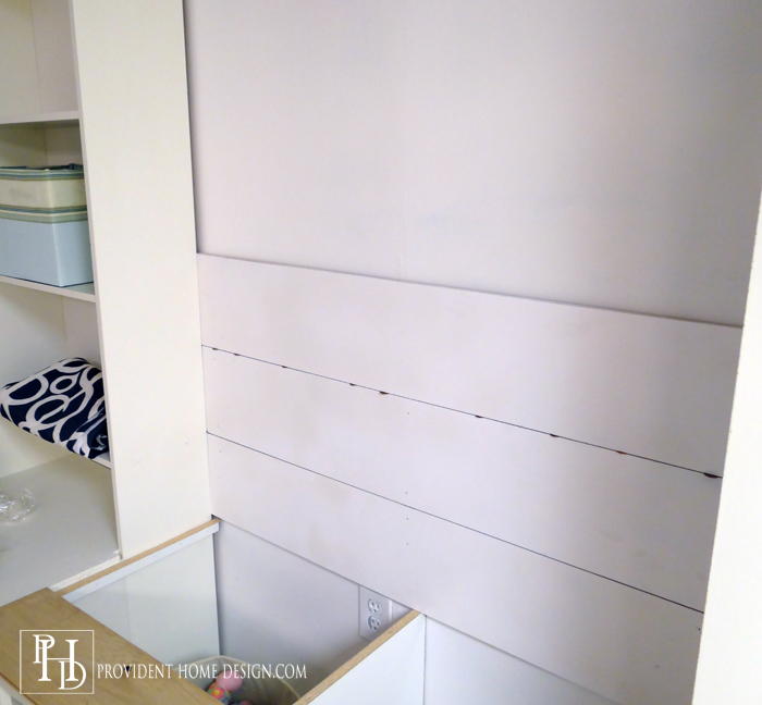 Using Pennies to install Shiplap