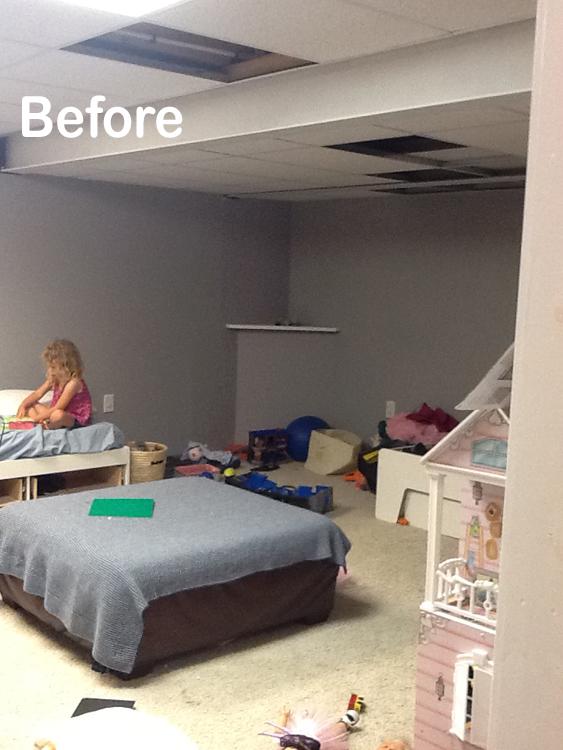 Basement Playroom Before