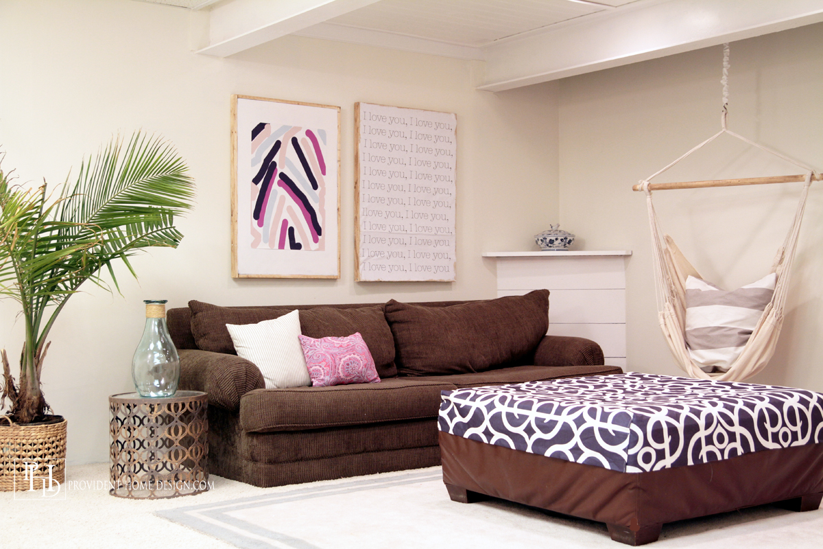 Bright and Cheerful Basement