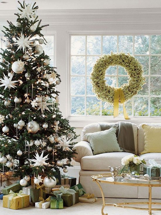 Christmas Tree with Star Ornaments