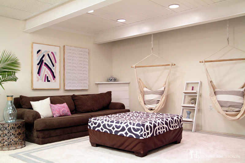 How to Make a Basement Playroom Bright