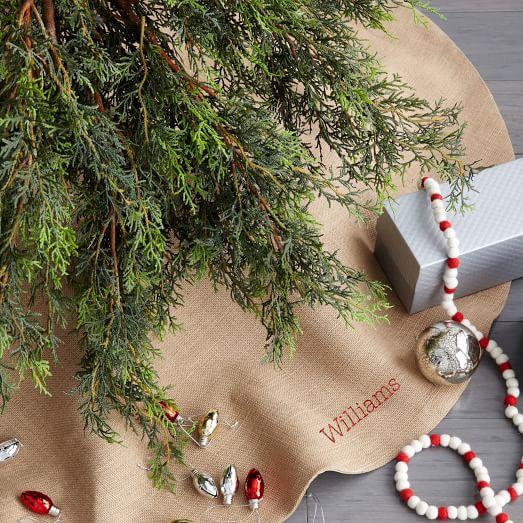 West elm burlap tree skirt