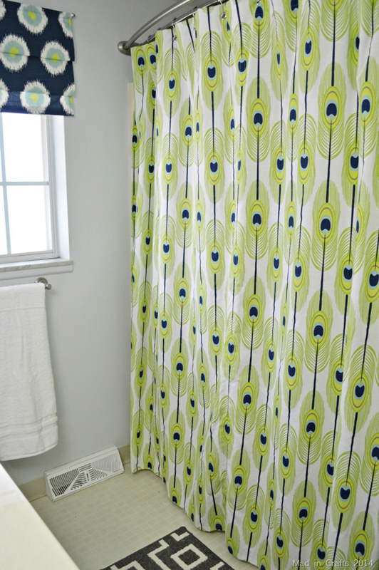 How to make a fabric shower curtain